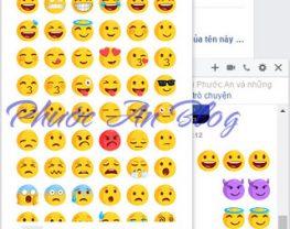 Cách gõ nhanh biểu tượng cảm xúc trên Facebook