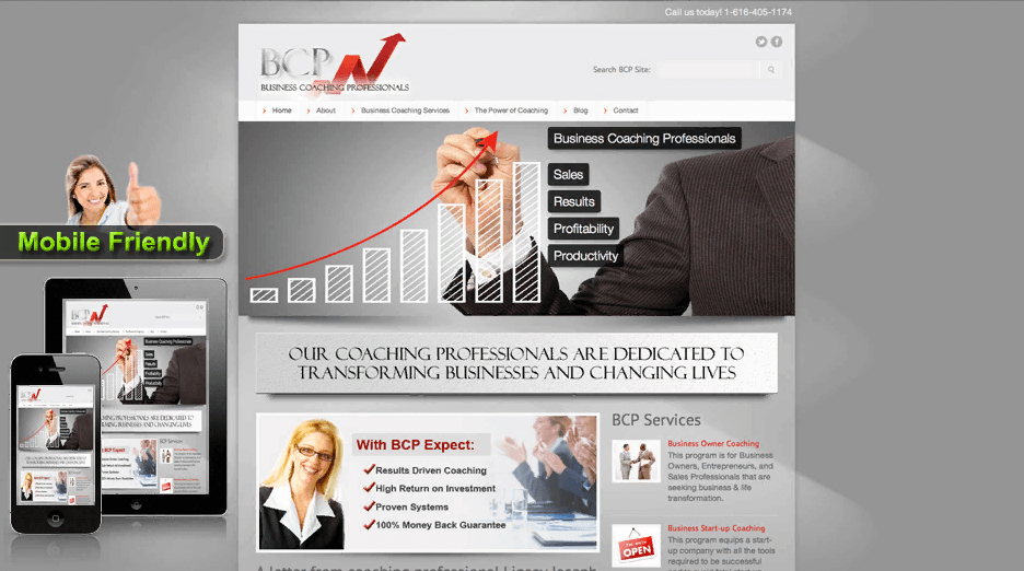 Xây dựng giao diện website kinh doanh đẹp mắt