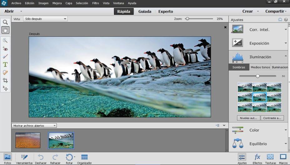Phần mềm chỉnh sửa ảnh Adobe Photoshop Elements.