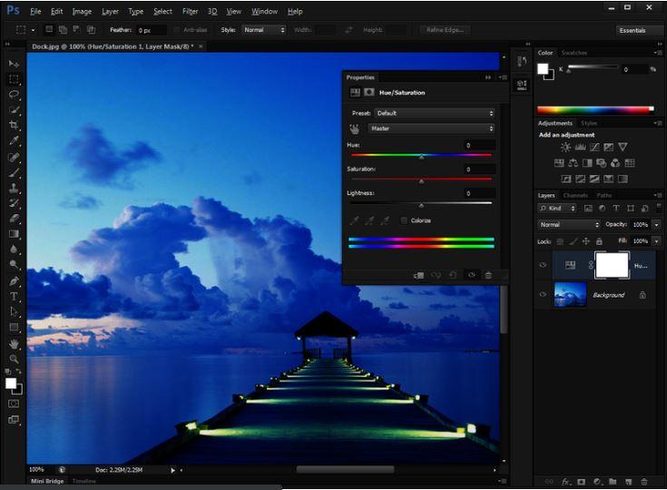 Phần mềm chỉnh sửa ảnh Photoshop CS6.