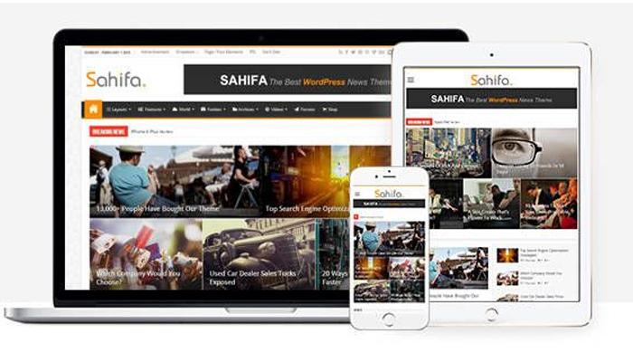 Sahifa – Theme blog cá nhân đẹp dạng tin tức